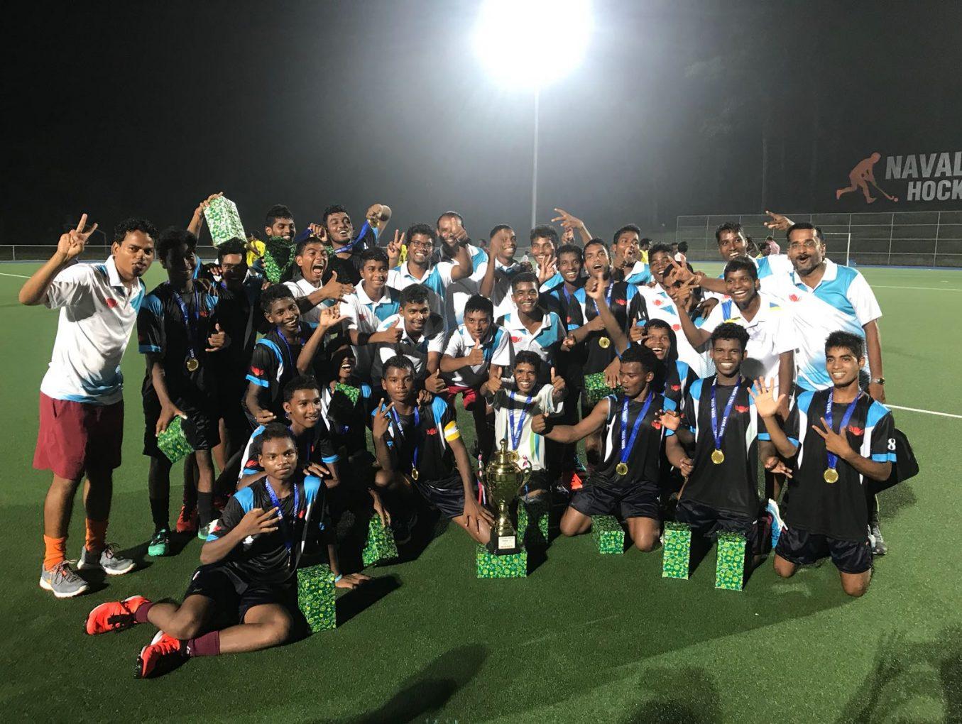Naval Tata Hockey Academy boys win their first tournament